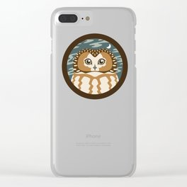 Northern Saw-whet Owl Clear iPhone Case