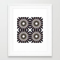 chocolate Framed Art Prints featuring Chocolate Flower Mandala Pattern by 2sweet4words Designs
