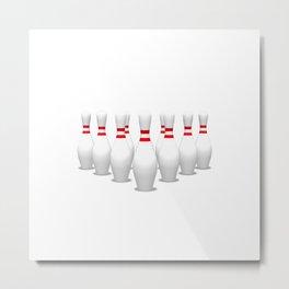 Bowling Pins Metal Print