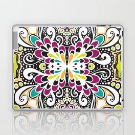 White Swirls Laptop & iPad Skin