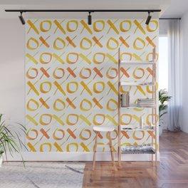 xoxo Watercolor Yellow Orange Wall Mural