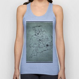 aged canal map Unisex Tank Top