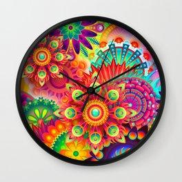 Colrful abstratin. Wall Clock