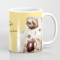 sloth Mugs featuring Sloth Astronaut by Bakus