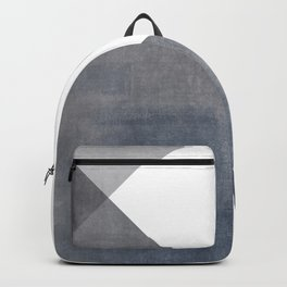 Strength    Abstract in Blue + Gray Backpack