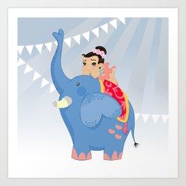 Blue Circus Art Print