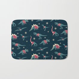 Dinos In Sweaters Bath Mat