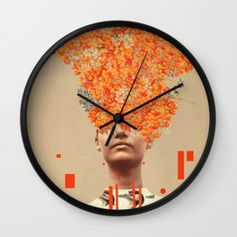Bird Flight in Autumn Wall Clock
