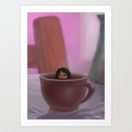 Caffe Girl Art Print