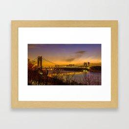 George Washington Bridge Framed Art Print