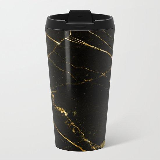 Black Beauty V2 #society6 #decor #buyart Metal Travel Mug