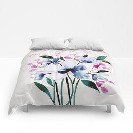Flowers and butterflies 3 Comforters