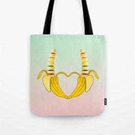 Gay Pride Banana Heart Tote Bag
