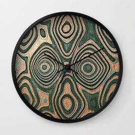 Metall texture, Damascus Wall Clock