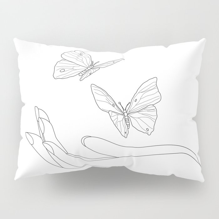 Butterflies on the Palm of the Hand Pillow Sham