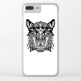Tenacious Wolf Clear iPhone Case