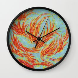 Fires of Life Wall Clock