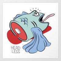 Headless Fishy Art Print