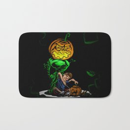 Pumpkin Head Bath Mat