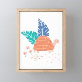 Tiny Tortoise Framed Mini Art Print