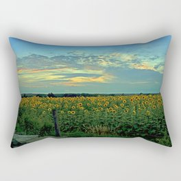 Sunflower Field at Dusk Rectangular Pillow