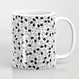 White Medication Pattern - Nurse, Doctor, Pharmacist Coffee Mug