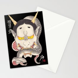 hannya and snake Stationery Cards