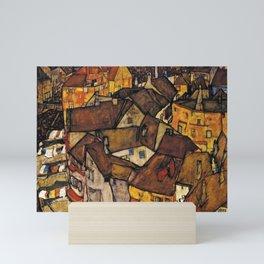 CRESCENT OF HOUSES (THE SMALL CITY) - EGON SCHIELE  Mini Art Print