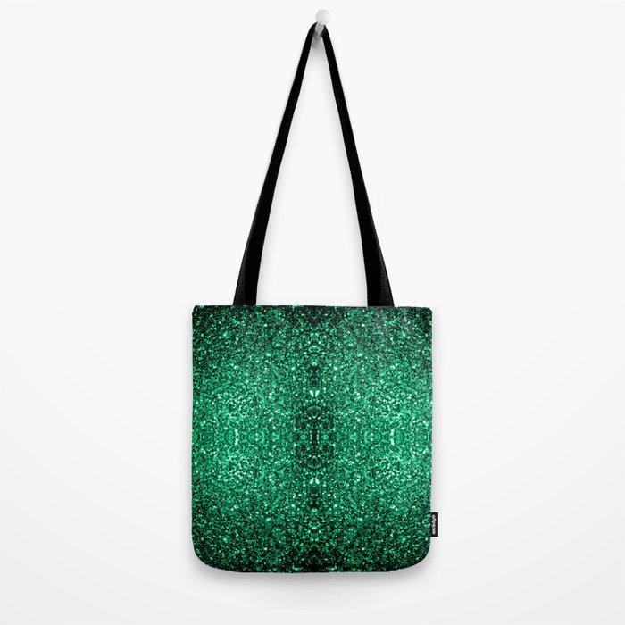 Beautiful Emerald Green glitter sparkles Tote Bag