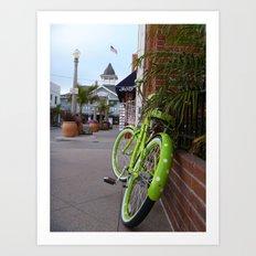 The Green Bike Art Print
