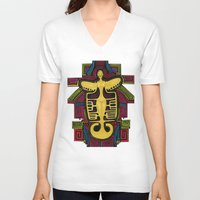 colombia V-neck T-shirts featuring Colombia Art  by Adriana Mateus