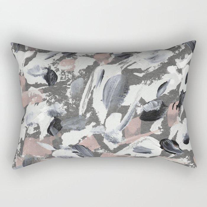 White and Grey Rectangular Pillow
