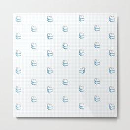 Milk Carton Pattern  Metal Print