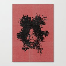 Basquiat botanical portrait Canvas Print