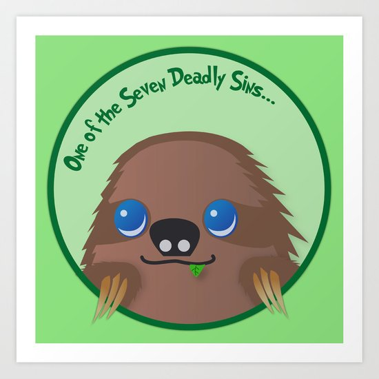 Adorable Sloth Art Print