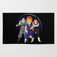dbz Area & Throw Rugs featuring DBZ - Mighty Fusion by Mr. Stonebanks