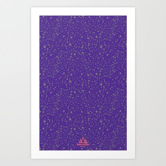 Trail Status / Mountain Purple Art Print