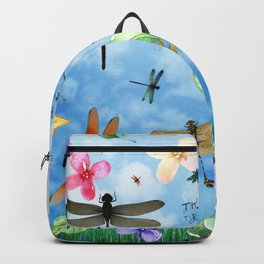 There Be Dragons Whimsical Dragonfly Art Backpack