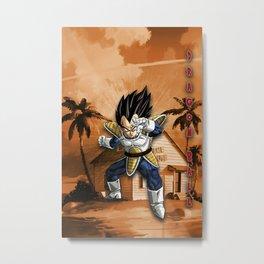 Vegeta Dragon Ball Metal Print