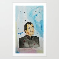crowley Art Prints featuring supernatural crowley by meldemirci