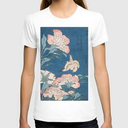 Katsushika Hokusai - Peonies and Canary, 1834 T-shirt