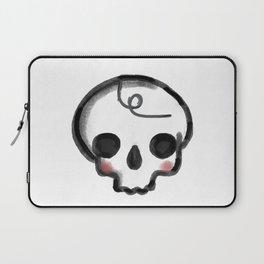 My Skully Friend - digital mixed media illustrated skeleton Laptop Sleeve
