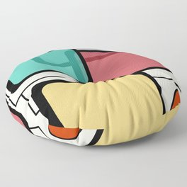 Mid-Century Modern Art Landscape 1.1 Floor Pillow