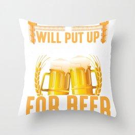 Scaffolder Beer Lover construction site builder Throw Pillow