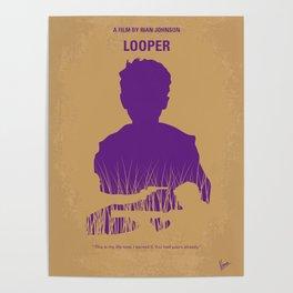 No636 My Looper minimal movie poster Poster