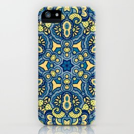 Blue Yellow original Art iPhone Case