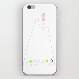Indecisive girl iPhone Skin