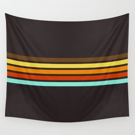 5 Thin Colorful Stripes 19 Wall Tapestry