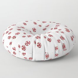 Peppermint Candy in White Floor Pillow