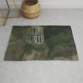Abandoned on the Beach - Spooky Cottage Rug